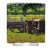 Rusty Old Mccormick Deering Tractor Shower Curtain