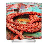 Rusty Old Ship Shower Curtain