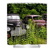 Rusty Old Transportation Shower Curtain