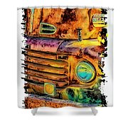 Rusty Old Truck Shower Curtain