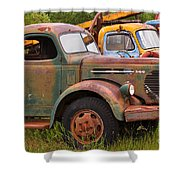 Rusty Old Trucks Shower Curtain