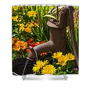 Rusty Old Water Pump Shower Curtain