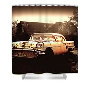 Rusty Oldsmobile Shower Curtain