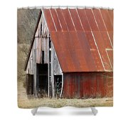 Rusty Ole Barn Shower Curtain