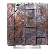 Rusty Plate Door 2 Shower Curtain