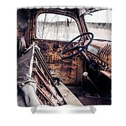 Rusty Relic Truck Shower Curtain