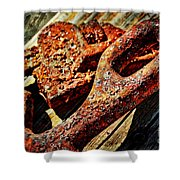 Rusty Tools I With Texture Shower Curtain