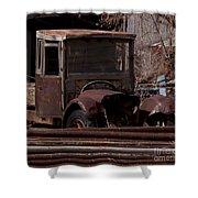 Rusty Truck   #1049 Shower Curtain
