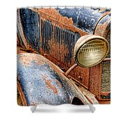 Rusty Vintage Automobile Shower Curtain