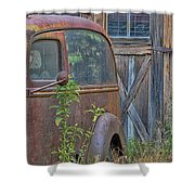 Rusty Vintage Ford Panel Truck Shower Curtain