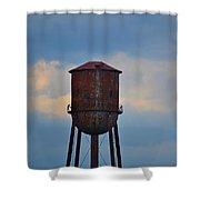 Rusty Watertower Shower Curtain