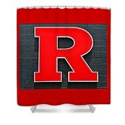 Rutgers Block R Shower Curtain