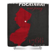 Rutgers University Scarlet Knights Piscataway Nj College Town State Map Poster Series No 092 Shower Curtain
