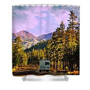 Rv And See America Shower Curtain