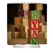 Ryan - Alphabet Blocks Shower Curtain