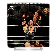 Ryback And Shield Shower Curtain