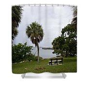 Ryckman Park In Melbourne Beach Florida Shower Curtain by Allan  Hughes