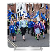 Rye Olympic Torch Parade Shower Curtain