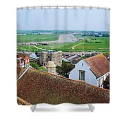 Rye Roofs Shower Curtain