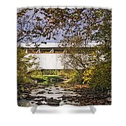 Ryot Covered Bridge And Stream Shower Curtain