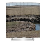 S Curve Creek Shower Curtain