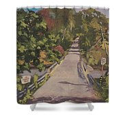 S. Dyer Neck Rd. - Art By Bill Tomsa Shower Curtain