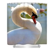 S Is For Swan Shower Curtain