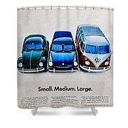 S M L Shower Curtain