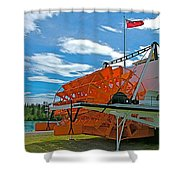 S S Klondike On Yukon River In Whitehorse-yt Shower Curtain