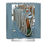 S S Mierce Ropes Shower Curtain
