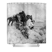 S Wrench Buckaroos Shower Curtain