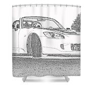 S2000 Sketch Shower Curtain