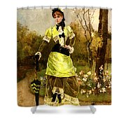 Sa Majeste La Parisienne Shower Curtain