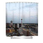 Sa Skyline Go Spurs Go 2013 Shower Curtain