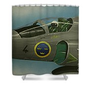 Saab Viggen Gruppo 4 Cockpit Shower Curtain