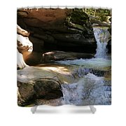 Sabbaday Falls Gorge Shower Curtain
