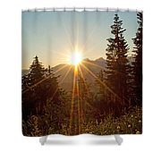 Sabbath Sunset Shower Curtain