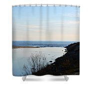 Sable Meets Lake Michigan Shower Curtain