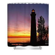 Sable Point Sunset Shower Curtain