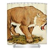 Sabretooth Cat Shower Curtain