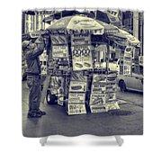 Sabrett Vendor New York City Shower Curtain