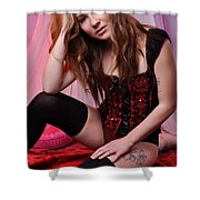 Sabrina4 Shower Curtain by Yhun Suarez
