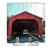 Sachs Covered Bridge 3 Shower Curtain