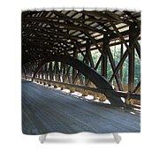 Saco River Covered Bridge Nh Shower Curtain