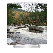 Saco River Rapids North Conway I Shower Curtain