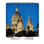 Sacre Coeur - Night View Shower Curtain
