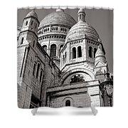 Sacre Coeur Architecture  Shower Curtain
