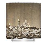 Sacre Coeur Basilica Of Montmartre In Paris Shower Curtain