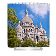 Sacre Coeur Basilica Paris France Shower Curtain