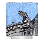 Sacre Coeur Gargoyle Shower Curtain